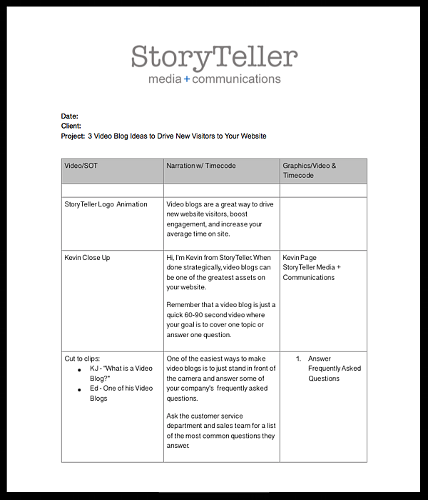 Training Outline Template Word from www.storytellermn.com